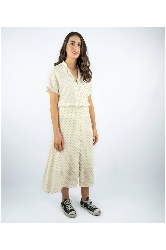 falda midi lunares amarillos wildpony online la boheme palencia envio gratis