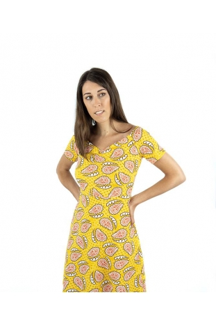 vestido amarillo pasley compañia fantastica online la boheme palencia envio gratis