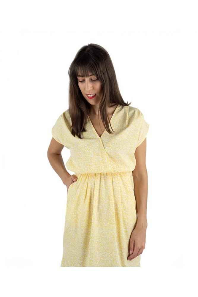 vestido bruce amarillo ichi la boheme palencia envio gratis