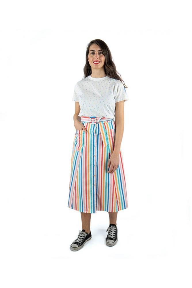 falda midi rayas colores candy sugarhill brighton online la boheme palencia envio gratis