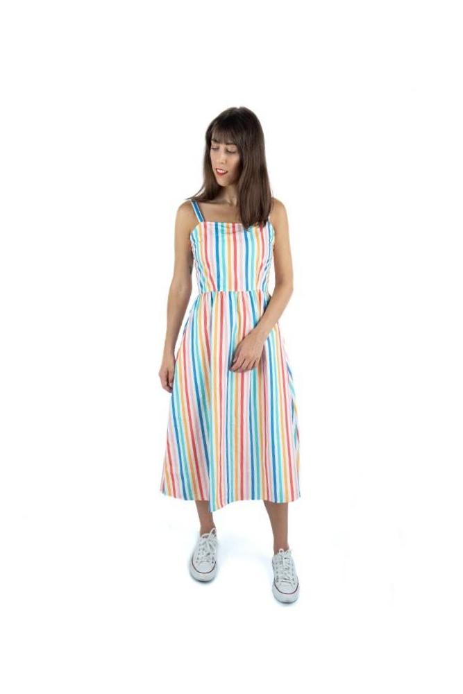 vestido midi petunia rayas sugarhill brighton online la boheme palencia
