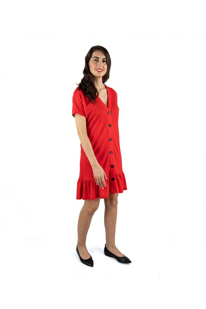 vestido volante rojo pepa loves online la boheme palencia online envio gratis