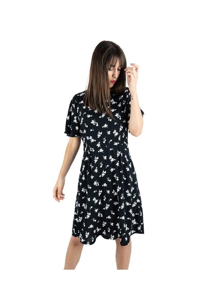 vestido isole negro flores byoung la boheme palencia