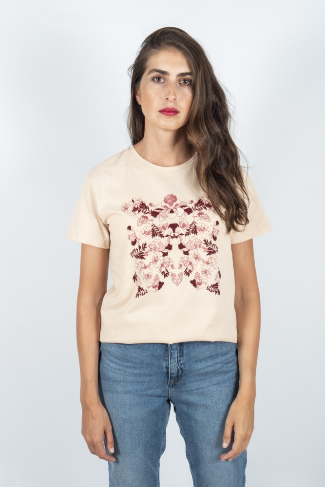 camiseta rosa flores frnch online envio gratis la boheme palencia