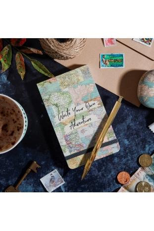 bloc de notas mapa vintage sass and belle la boheme palencia