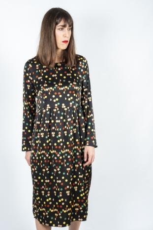 vestido midi lunares de colores compañía fantastica
