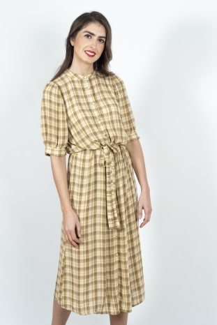 vestido midi cuadros Naomi peppercorn la boheme palencia