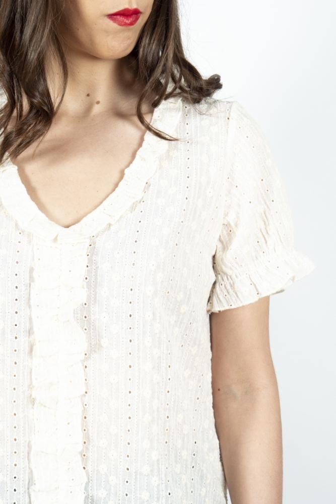 top ecru bordado ingles Cotton brothers la boheme palencia