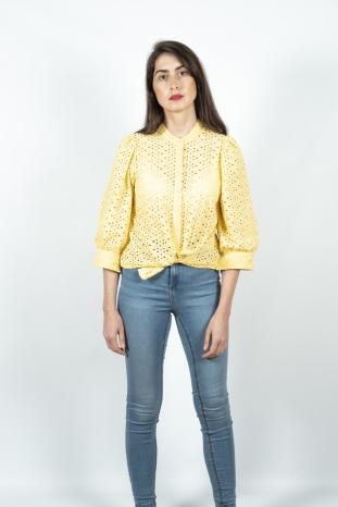 camisa ninna amarilla peppercorn troquelada la boheme palencia