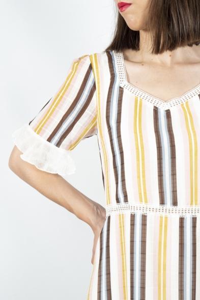 vestido rayas Akinolaude la boheme palencia