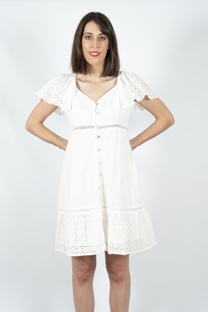 vestido blanco bordado ingles Akinolaude la boheme palencia