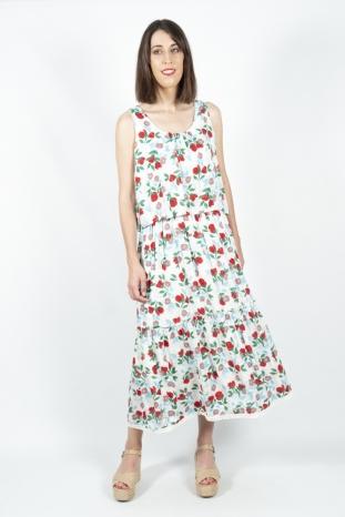 Vestido largo flores Akinolaude la boheme palencia envio gratis