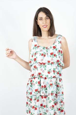 Vestido flores akinoalude la boheme palencia envio gratis