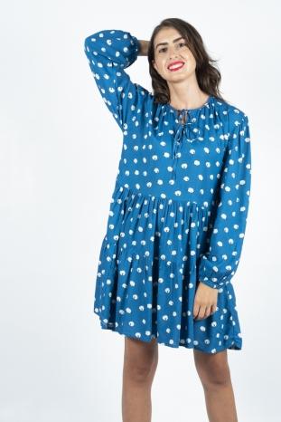 vestido azul ovejas compañía fantastica la boheme palencia