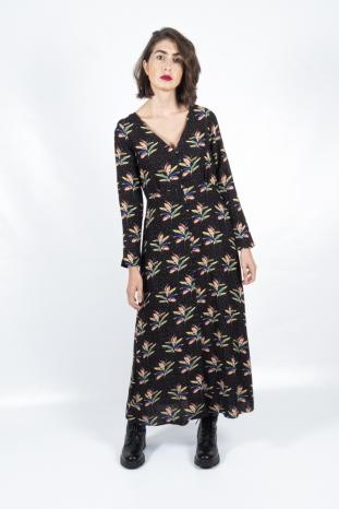 vestido largo dots and petals pepa loves la boheme palencia