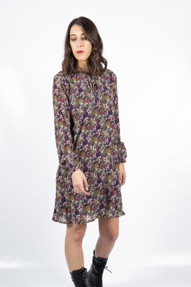 vestido plisado flores compañia fantastica la boheme palencia