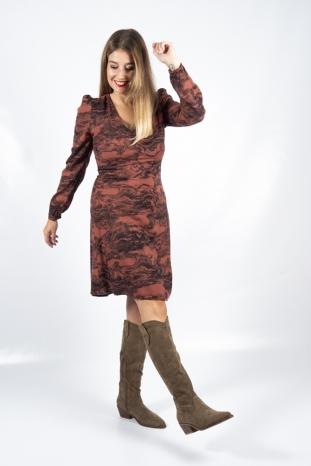 vestido vera mahogany ichi la boheme palencia envio gratis