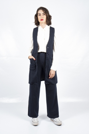 pantalon marino lunares compañia fantastica la boheme palencia